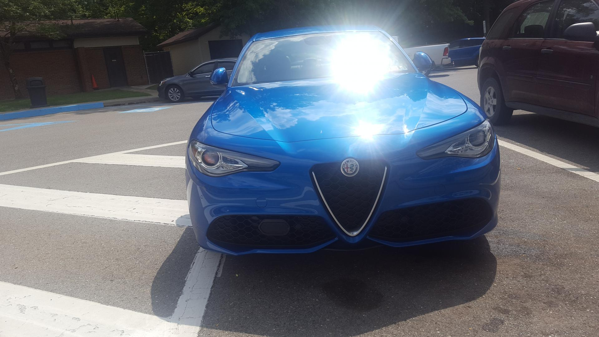 finally picked up my Giulia - along with paint chip question   Alfa