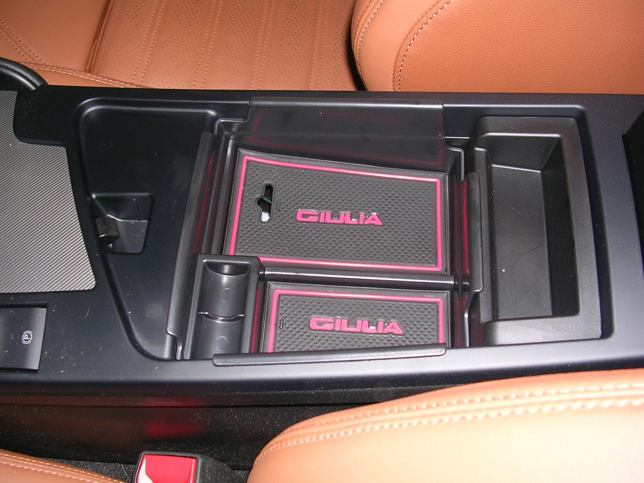FOR  Alfa Romeo Giulia 2017 2018 Central Armrest Secondary Storage Box Organizer
